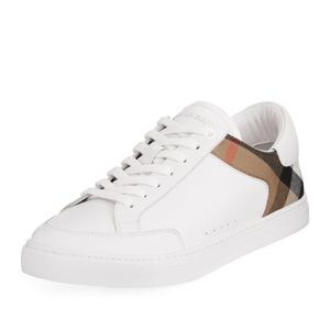 Burberry White Leather Sneaker